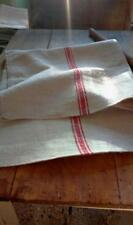 Antique vintage GRAIN SACK feedsack  feedbag  RED stripes hemp linen GRAINSACK