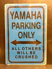 Yamaha Parking Metal Sign / Vintage Garage Wall Decor (30 x 20cm)