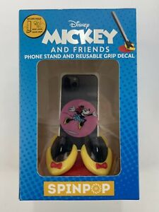~NEW~SPIN POP-DISNEY 'Mickey&Friends' MNNIE Phone Stand&Reusable Grip Decal