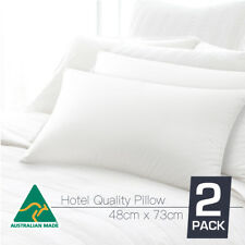 Australian Made 5 Star HOTEL Quality TWIN PACK Standard Pillows Cotton Cover