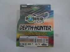 PowerPro Depth Hunter 300m  tresse multicolore 0.19mm 13 kg
