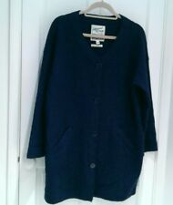 Lovely SEASALT Navy Boiled Wool Buttoned Jacket/Coat 14