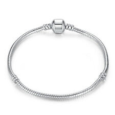 18cm Hot Sales 925 Silver Women Fashion Snake Chain Bracelet fit all CHARMS