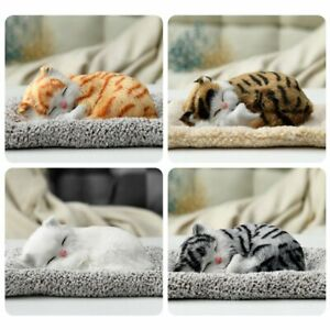 Cute Stuffed Toys Simulation Animal Cat Doll Plush Sleeping Cats Toy For Kid #7