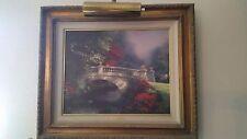 Thomas Kinkade Broadwater Bridge Framed Artwork w/light 16x20 glicee