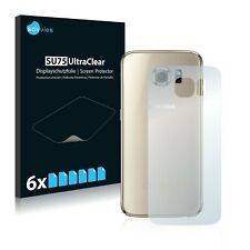 6x Savvies Screen Protector for Samsung Galaxy S6 (Back) Ultra Clear