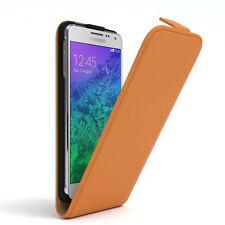 Tasche für Samsung Galaxy Alpha Flip Case Schutz Hülle Cover Orange