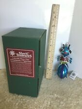 """Gentleman Ant"" 7"" Slavic Treasures 98-111C Fb H/Blown Glass Ornament 1999 Nib"