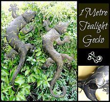 METAL 1 METRE TEALIGHT GECKO~Wall Hanging~Tea Light Holder Balinese Outdoor