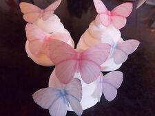 16 PRECUT Pastel Mix 2 Edible wafer/rice paper Butterflies cake/cupcake toppers
