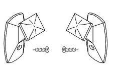 Jalousie Rollo Plissee transparente Schnurwickler 2 Stk zum Schrauben neu