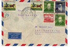 1952 Germany Scott B328(x2), B330, 690, 692(x2) on postwar cover to N.J.