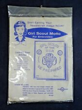 Vintage Girl Scouts Motto Needlecraft Embroidery Kit (unopened) 11-5422