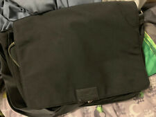 Banana Republic men's canvas and leather trim messenger bag. Black. Gently used