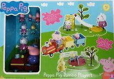 Peppa Pig Jumbo PlaySet Peppa's Train Playround Peppa oig Playset Figuers George