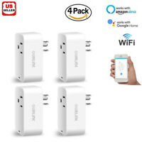 4PKs Smart Mini WiFi Plug Outlet Switch work with Echo Alexa Google Home Remote