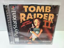 Sony Playstation 1997 Ps1 Eidos Tomb Raider 2 Black Label Complete Cib
