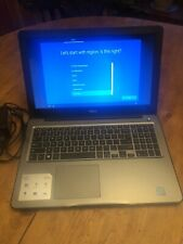 "Silver Dell Inspiron 15 5567 Laptop Light Use! Backlit keys! 15.6"" incl Pwr Cord"