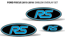 Oval Badge Emblem Logo Overlay Sticker Decals For Ford Focus RS NITROUS BLUE