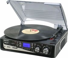 Roadstar TTR 8632ucen Semi-automatic Turntable With Usb/sd Transfer and FM Radio