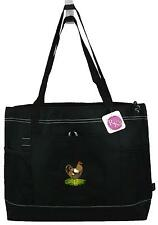 Farm Bag Black Gemline Select Zipper Tote Hen Rooster Chicken Poultry Monogram