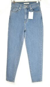 Womens Levis High Waisted Taper Blue Stretch Jeans Size 8 W26 L27