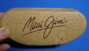 Maui Jim Wicker Sunglasses Case Clamshell Damaged On Top and Front Sides