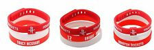 Silicon Sports Set 3 Bracelet Houston Rockets Basketball adjustable Wristband