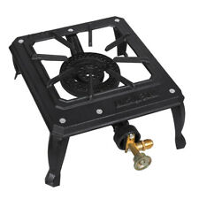 Outdoor BBQ Gas Cooker Camping Stoves Portable Single Cast Iron Burner for Patio