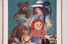 Raggedy Ann Doll Bear Art LE Print Framed Gerald Lubeck Family Portrait signed