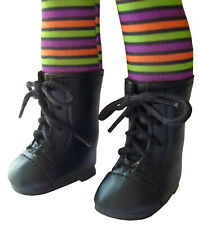 "Black Witch Boots For 14.5"" WELLIE WISHERS Doll Clothes American Girl"