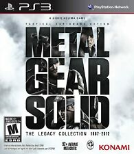 Metal Gear Solid: The Legacy Collection 1987-2012 PlayStation 3, PS3) Brand New
