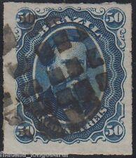 BRASIL stamps 1876 Emperor Pedro II 50 reis bleu dashes perf. used YT.32 - F364