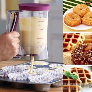900 ml DIY Backen Teigportionierer mit Meßskala Teigspender Teigdosierer Muffins