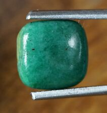 4.52ct. 11 x 11 x 3.5 mm, RUSSIAN AMAZONITE CABOCHON, Rounded Square, Sea-Green