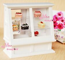 Free shipping!1:12 Dollhouse Miniature furniture Wood Shop Counter Cake Cabinet