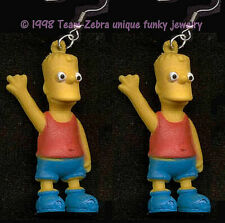 Funky BART SIMPSON EARRINGS Cartoon Character Mini Figure Charms Costume Jewelry
