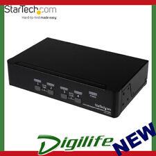 Startech 4 Port USB DisplayPort KVM Switch with Audio SV431DPUA