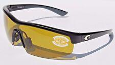 COSTA DEL MAR Straits 580 POLARIZED Sunglasses Black/Sunrise 580P NEW $189