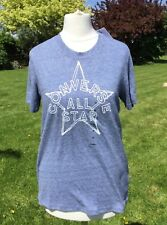 Converse All Stars Blue Marl T Shirt Size XS New with Tags