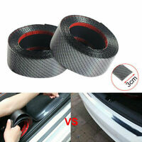 1M Roll Car Carbon Fiber Rubber Edge Guard Strip Door Sill Protector Accessories