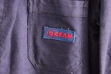 Vintage French peasant bleu de Travail  Work Chore wear denim blue Jacket coat