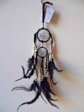 Beaded Native American Dream Catcher Feather Long Turquoise Blue Black Sleep