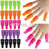 10x Stylish Plastic Nail Art Soak Off Clip Cap UV Gel Polish Remover Wrap Tool x
