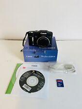Canon PowerShot SX160 IS 16.0MP Digital Camera Black W/1GB Card IOB