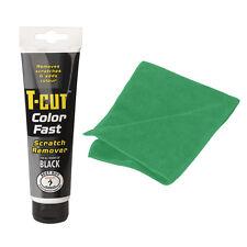 T Cut BLACK Colour Fast Car Scratch Remover Abrasive Compound + Microfibre Cloth