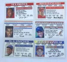 Sports Hero Athlete Souvenir Drivers License ID Card 6 LOT Jordan Ali Tiger Sosa