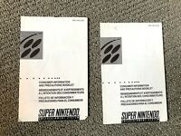 2 Super Nintendo SNES Consumer Information and Precautions Booklet ONLY SNS-USA