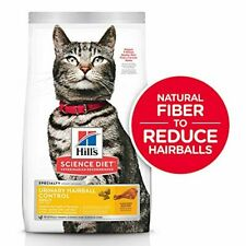 New listing Hill's Science Diet Dry Cat Food, Adult, Urinary & Hairball Control, Chicken Rec