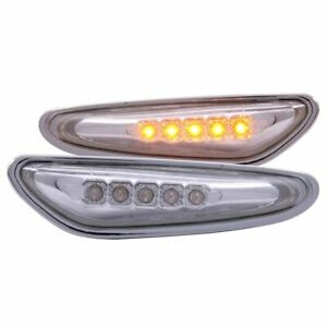 Anzo USA Clear Lens LED Side Marker Light Set, BMW 3-Series; 521035